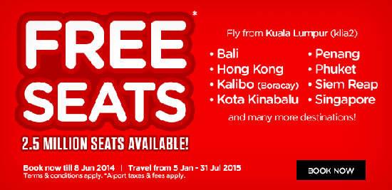 AirAsia bán vé siêu rẻ 'Free Seat'