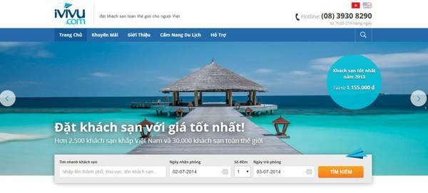 iVIVU.com trang website đặt phòng trực tuyến, nơi bạn có thể lựa chọn được những phòng khách sạn tốt giá rẻ.