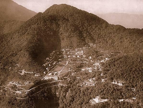 Du lich Tam Dao - Núi Tam Đảo chụp từ trên cao.