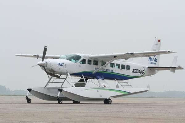 Đây là hai trong ba chiếc thủy phi cơ Cessna Grand Caravan EX được sản xuất tại công ty Cessna bang Kansas.