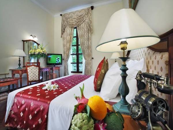 Phòng nghỉ với những nội thất cổ điển, nhưng cũng không kém phần sang trọng.