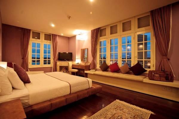 Du lịch Đà Lạt - Phòng ngủ lãng mạn tại Khách sạn Ngọc Lan Đà Lạt.