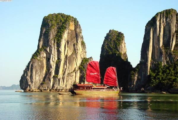 Du lịch Vịnh Hạ Long.