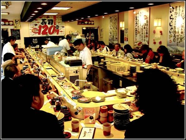 Du lich Nhat Ban - Nhà hàng sushi