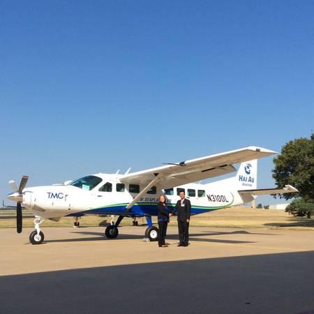 Du lịch Mỹ - Đại diện TMG nhận chiếc máy bay thứ 3 tại Mỹ.