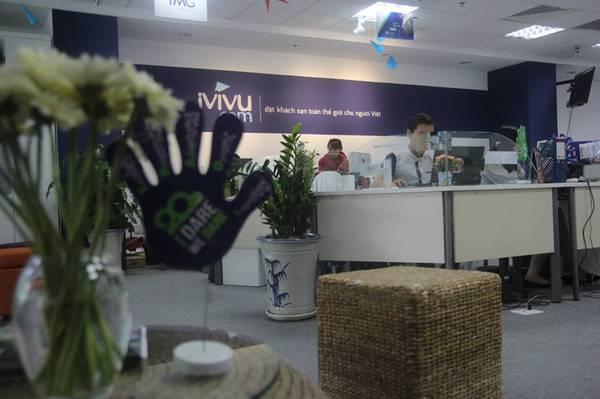 Văn phòng của iVIVU.com cũng được trang trí theo đúng tinh thần I Dare - We Dare.