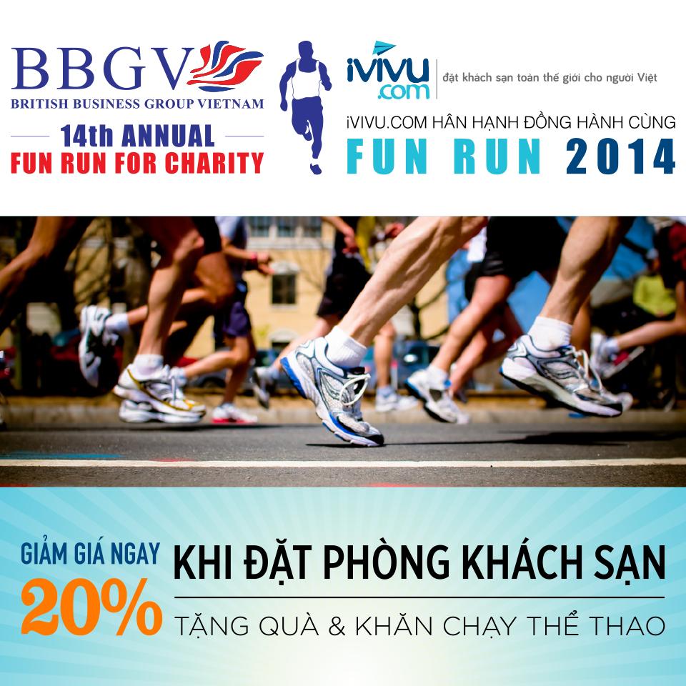 iVIVU.com đồng hành cùng sự kiện chạy từ thiện Fun Run lần thứ 14
