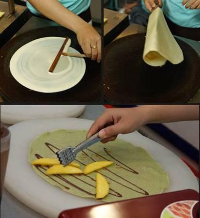 Bạn sẽ được trực tiếp nhìn thấy các công đoạn làm bánh.