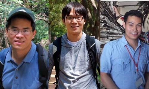 Du lịch Mỹ - Nhóm phát triển dự án, từ trái qua phải Nguyễn Minh Hiển, La Thành Nhân, Phan Huy Dũng.