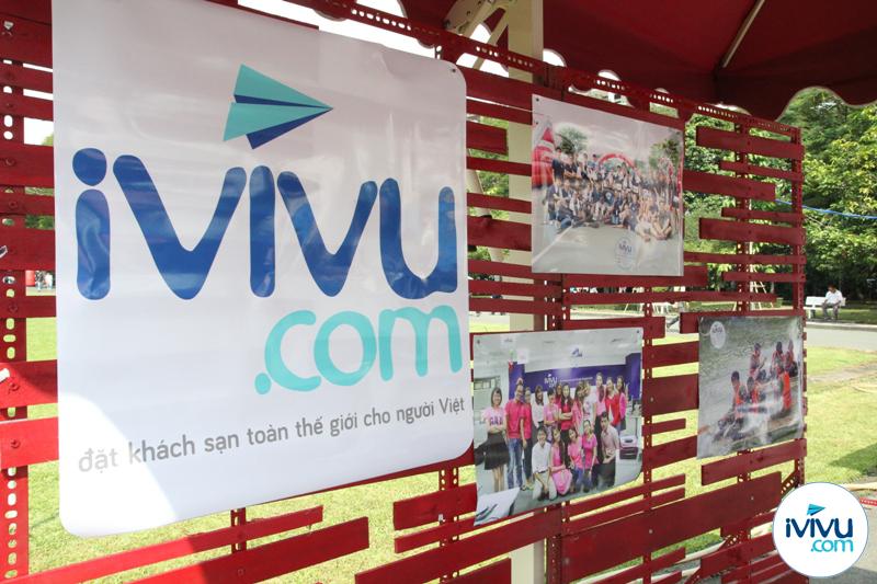Gian hàng của iVIVU.com tại ngày hội.