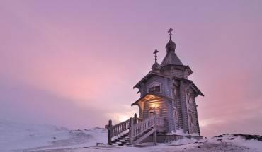 Nhà thờ Trinity tại đảo Vua George, Nam Cực.
