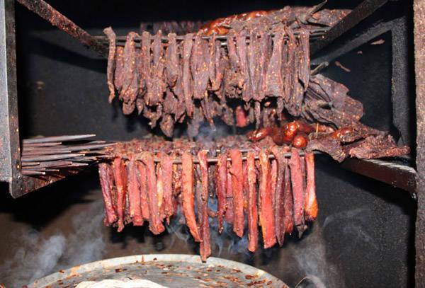 Thịt trâu gác bếp ở Hà Giang.