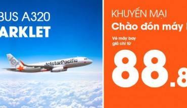 Hãng Jetstar tung vé 88.888 đồng chào mừng phi cơ thứ 8