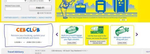 Đăng ký nhận khuyến mãi hãng Cebu.