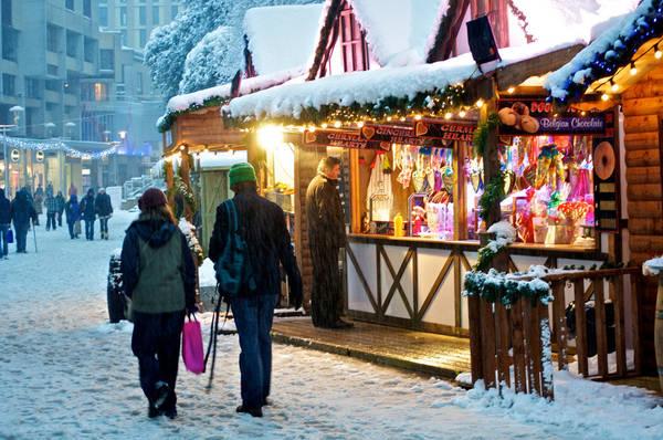 Giáng Sinh ở châu Âu thường gắn liền với tuyết.