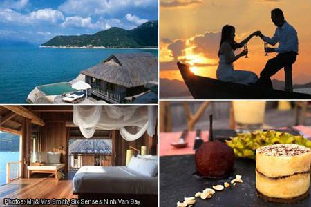 """Khu nghỉ dưỡng Six Senses tại Vịnh Ninh Vân, Nha Trang, vừa giành giải thưởng """"khách sạn có phòng ngủ gợi cảm"""" nhất thế giới trong năm 2014."""