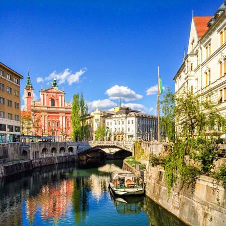 Ljubljana là một trong những thành phố xanh và đáng sống nhất châu Âu.