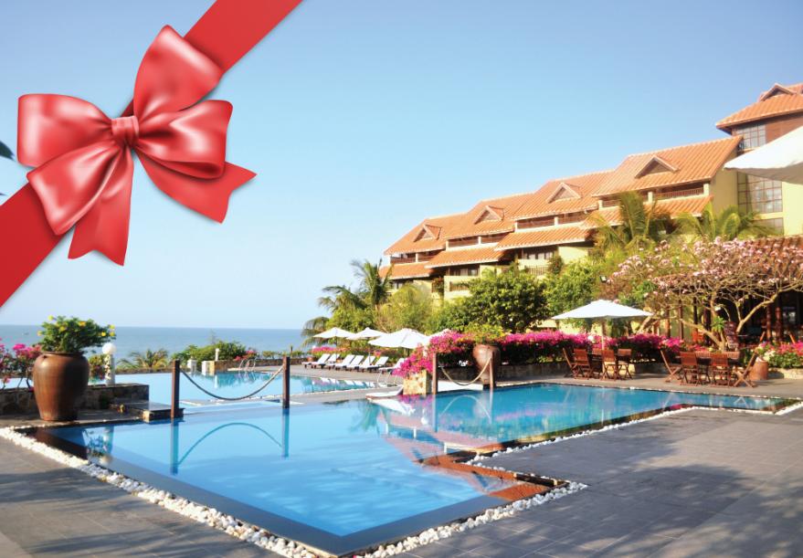 Không gian bên ngoài của Khu nghỉ dưỡng Romana Resort & Spa Phan Thiết.