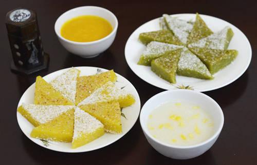 Chè xôi nén được nấu từ gạo nếp thơm, đỗ xanh, vừng và dừa. Chính những nguyên liệu dân dã này đã khiến món chè thêm phần đặc biệt.