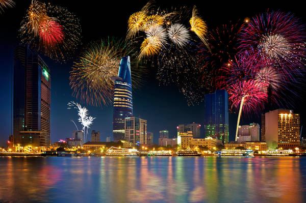 Năm nay, Sài Gòn sẽ tổ chức bắn pháo hoa ở Bitexco kết hợp trình diễn ánh sáng cực kỳ rực rỡ.