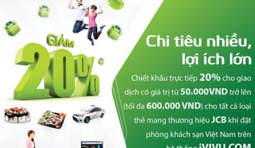 Chương trình ưu đãi cực hấp dẫn mà iVIVU.com dành cho chủ thẻ quốc tế JCB