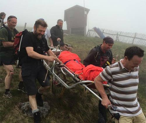 Một người đàn ông đã bị chấn thương ở mắt cá chân khi đi... tông leo núi ở Scotland