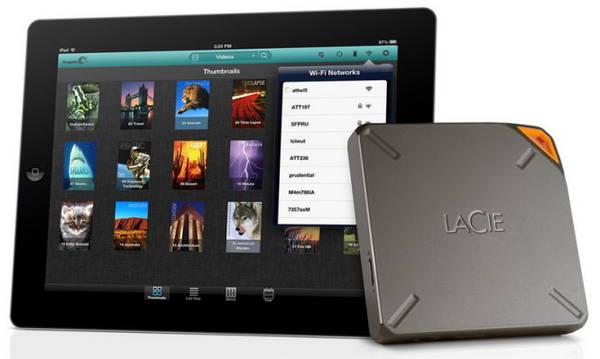 Ổ lưu trữ di động kết nối Wi-Fi LaCie Fuel