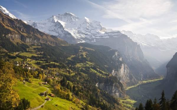 Nằm trên dãy núi Alps - khu làng cổ Wengen sở hữu vẻ đẹp thơ mộng