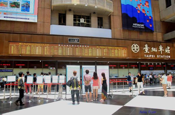 Nhà ga chính thành phố Đài Bắc.