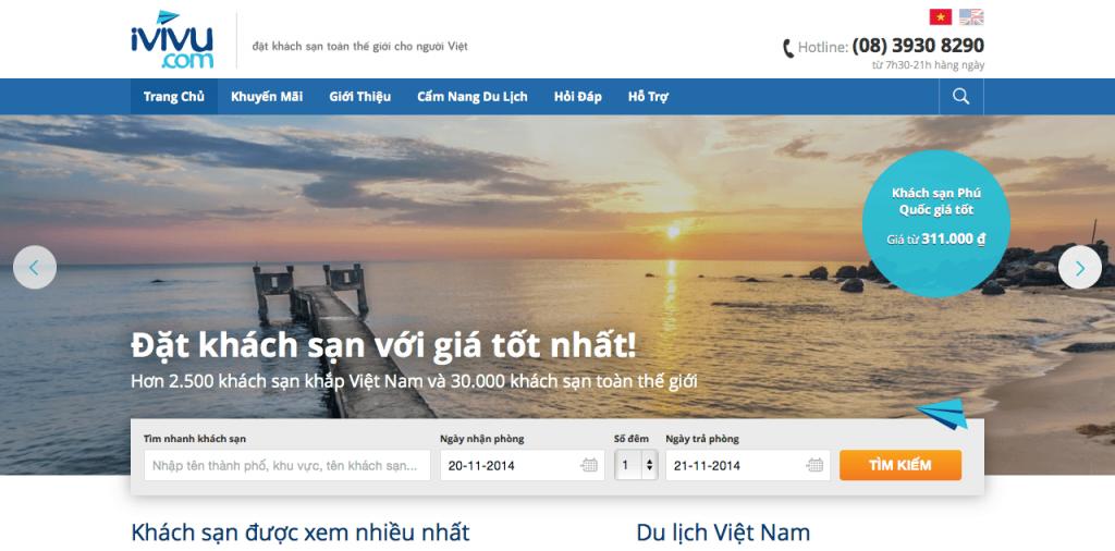 iVIVU.com – website đặt phòng khách sạn trực tuyến tốt nhất Việt Nam