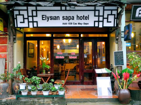 Khách sạn Elysian Sapa nhìn từ phía bên ngoài.