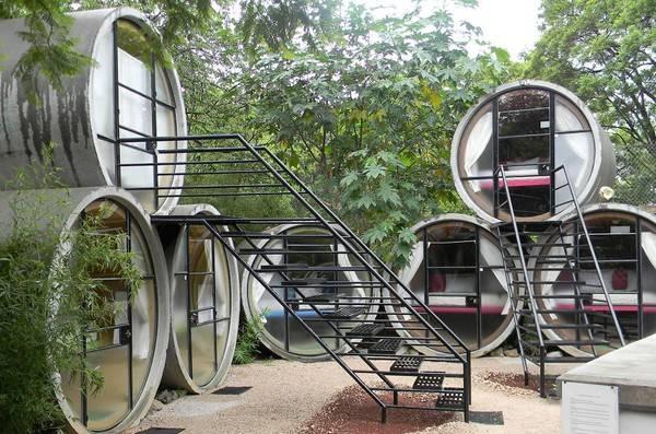 Khách sạn Tubohotel tại Mexico được đặt trong... các ống cống.