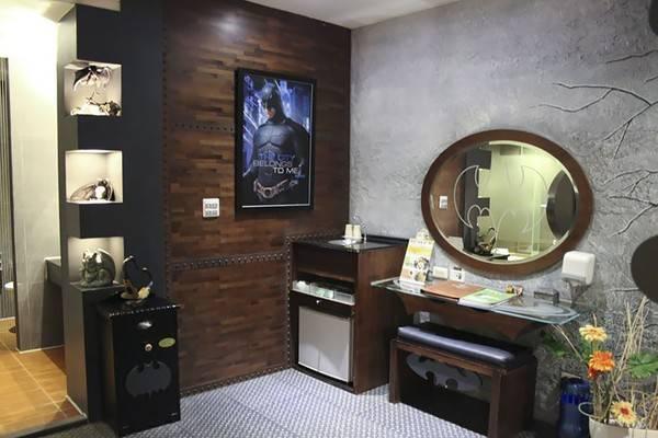Phòng dành cho những người hâm mộ siêu anh hùng nổi tiếng sống tại thành phố Gotham.