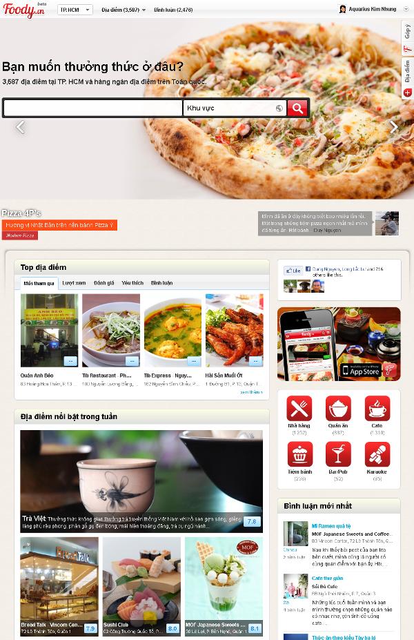 Sử dụng ứng dụng Foody là một trong những mẹo du lịch giúp bạn tìm được quán ăn với giá cả hợp lý.