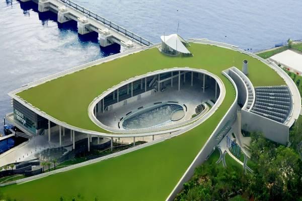 Đập nước Marina nhìn từ trên cao.