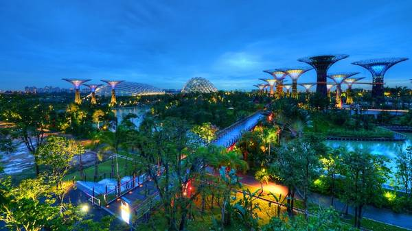 Toàn cảnh khu công viên nhìn từ trên cao.