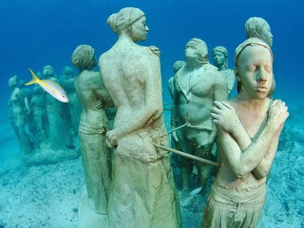 Bảo tàng Museo Subacuático de Arte, Cancún, Mexico