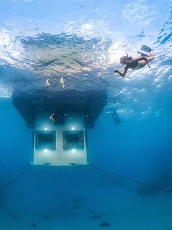 Căn phòng dưới nước, khu nghỉ dưỡng Manta, Zanzibar