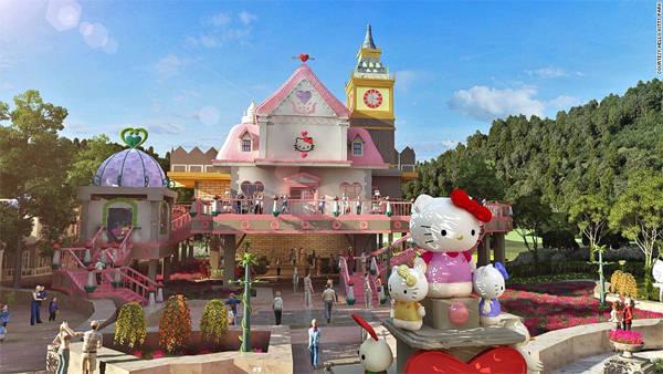 Công viên Hello Kitty ở Chiết Giang, Trung Quốc mở cửa trong tháng 1 năm 2015 với diện tích khoảng 100.000m2.