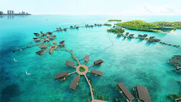 Khu nghỉ dưỡng sinh thái Funtasy Island, Indonesia là khu sinh thái lớn nhất thế giới,sẽ mở cửa vào cuối năm 2015.