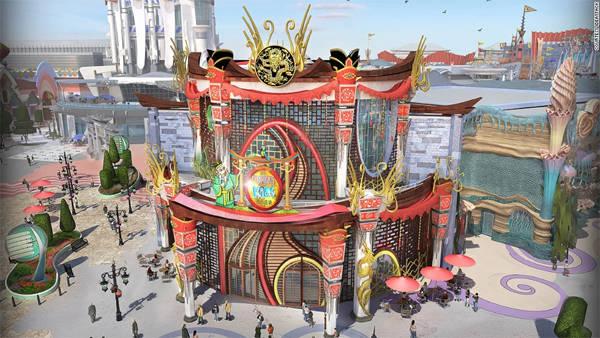 Công viên Eternity Passage, Bắc Kinh (mở cửa vào mùa hè năm 2015) là công viên giải trí công nghệ đầu tiên tại Trung Quốc.