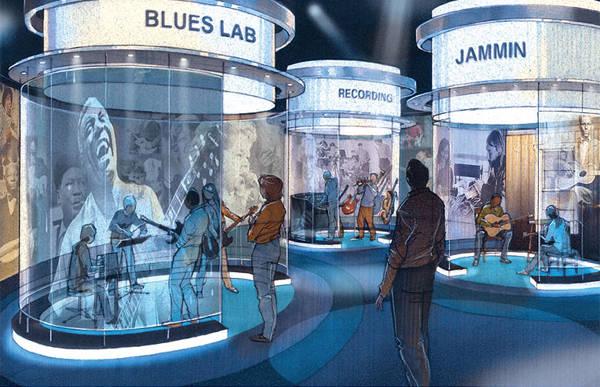 Bảo tàng National Blues, St.Louis, Missouri, Hoa Kỳ có diện tích 1.486 m2