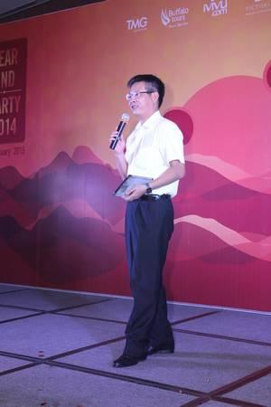 Ông Lương Hoài Nam – Tổng giám đốc Hàng không Hải Âu chia sẻ cảm nghĩ khi tham gia vào đêm tiệc tại khu vực TP.Hồ chí Minh. Ảnh: TMG
