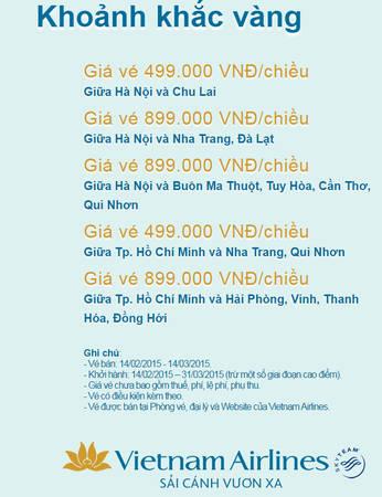 """Chương trình """"Khoảnh Khắc Vàng"""" tháng 2 của Vietnam Airlines"""