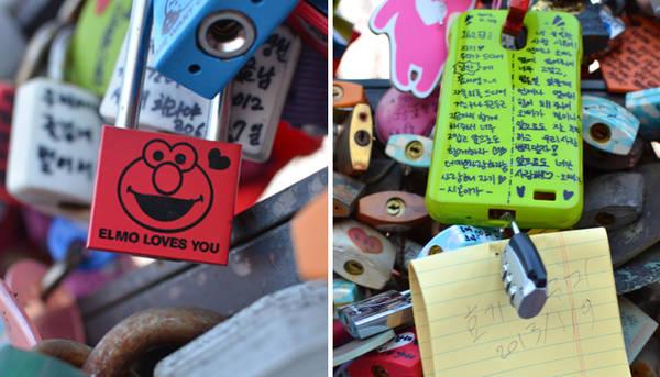 Bạn cũng sẽ nhìn thấy nhiều thông điệp tình yêu bằng đủ thứ tiếng ở đây.