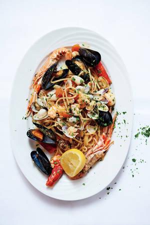 Thực đơn của các bữa ăn ở Venice không thể thiếu hải sản tươi...