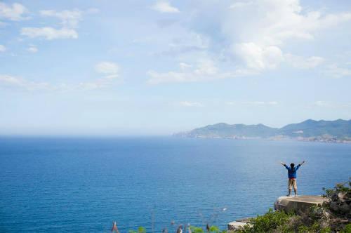 Cảnh sắc khoáng đạt tại đảo Bình Ba nhìn từ trên cao.