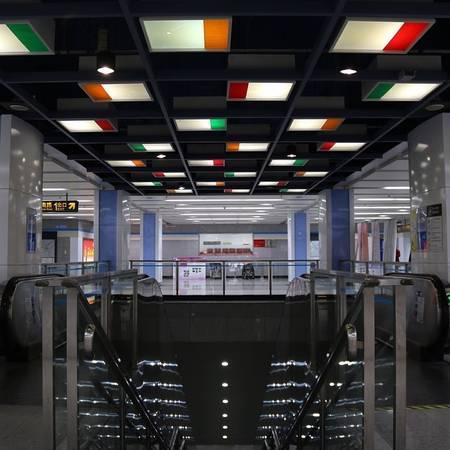 Ga tàu điện ngầm Thượng Hải, Trung Quốc.