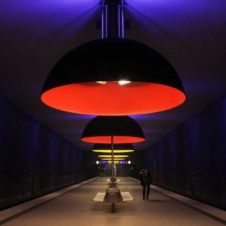 Ga tàu điện ngầm Westfriedhof, Munich (Đức).
