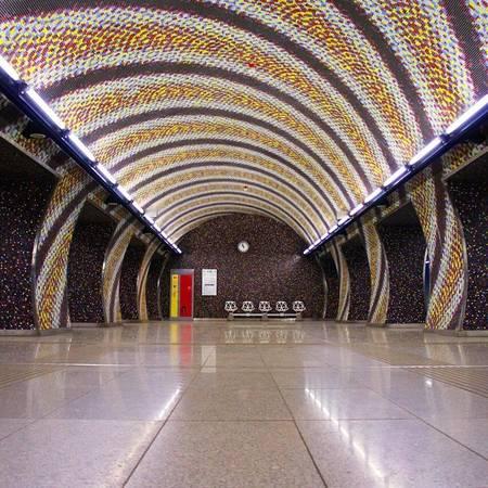 Ga tàu điện ngầm Budapest, Hungary.
